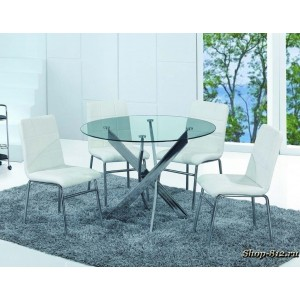 DT17 стол обеденный круглый, диаметр 110 *76см