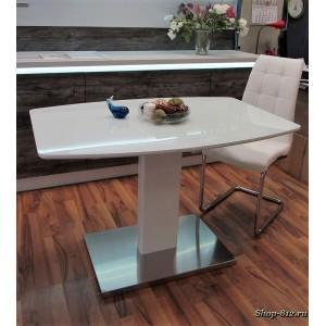 Стол раскладной B2469 белое стекло