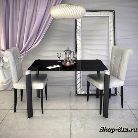 Стол обеденный Mela 01 Столешница 10 мм, 900*900*750